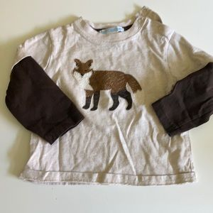 Janie & Jack precious Fox shirt